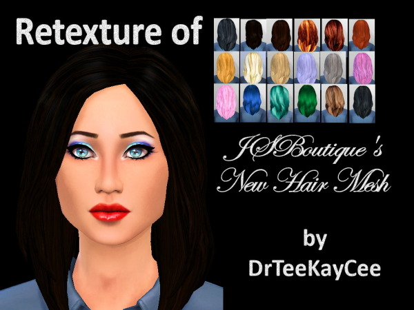 Sim Culture Nation: JS Boutique's New Hair Mesh retextured for Sims 4