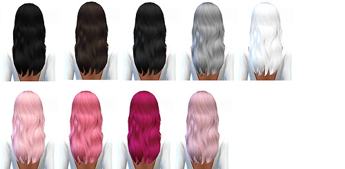 Miss Paraply: 45 default hair retextures for Sims 4