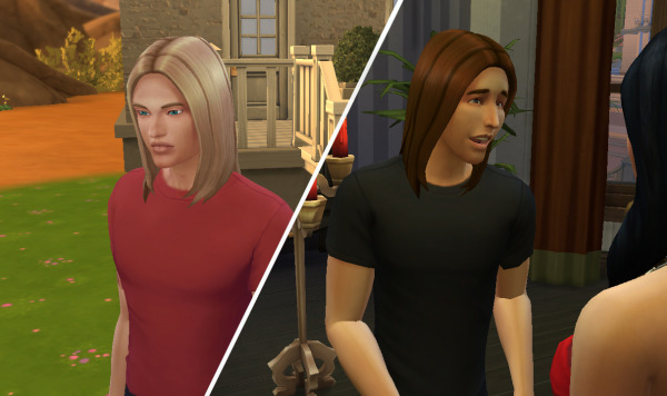 Mod The Sims: Straight Hairstyle by Kiara24 for Sims 4