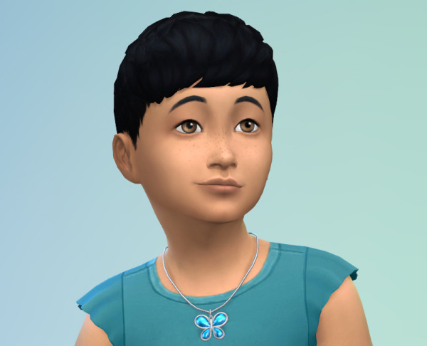 Sims 4 Dub: Short Straight Bangs hairstyle for Sims 4