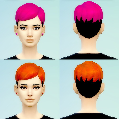 Pink Plumbob: Funky hairstyle for Sims 4