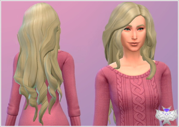 David Sims: Long Wavy Hair Modified for Sims 4