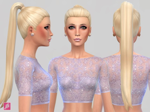 Alexandra Simblr: Ava Hairstyle set for Sims 4