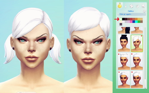 Miss Fortune Sims: Intense White hairstyle for Sims 4