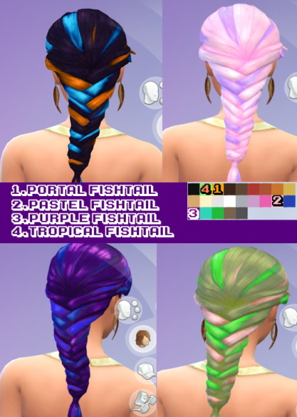 Goth family swag: Hairstyle recolors for Sims 4