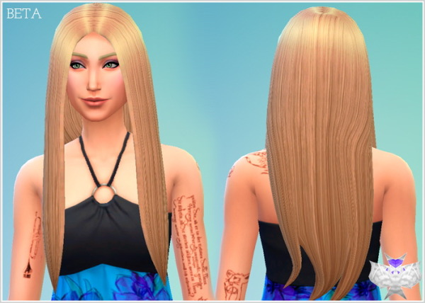 David Sims: New Mesh! Beta Hairstyle for Sims 4