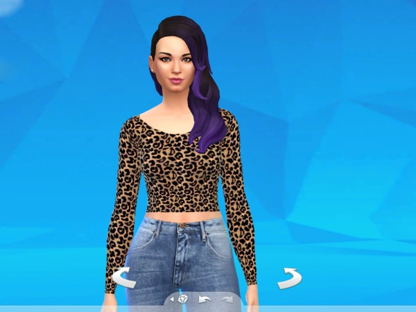 The Sims Resource: Purple Ombre Hair Thenanovieira for Sims 4