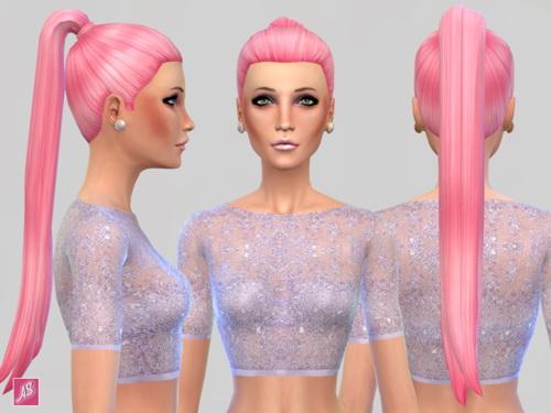 Alexandra Simblr: Ava Hairstyle set for Sims 4