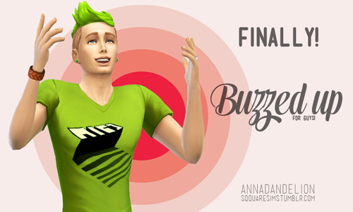 Sqquaresims: Annadandelion Buzzed up hairstyle for guys for Sims 4