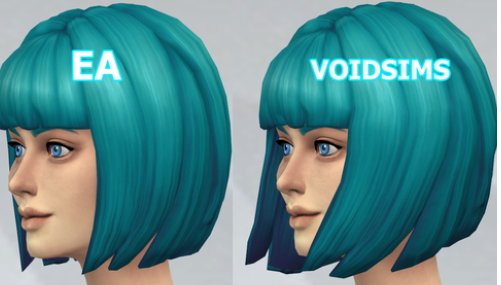 Void Sims: Short bob hairstyle edit for Sims 4