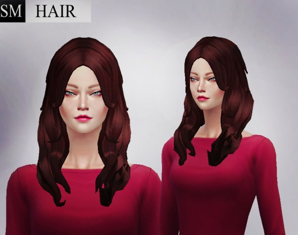 Simmaniacos: Monalisa Hairstyle for Sims 4