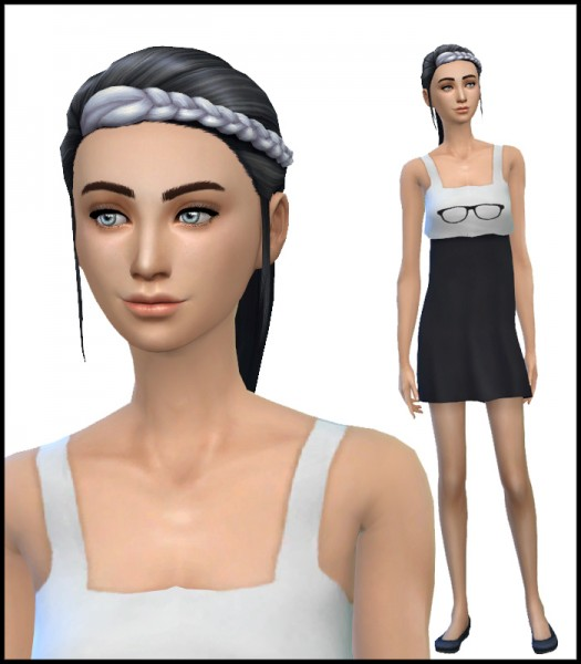 Simista: Braided Ponytail Edit Simsticle Recolours for Sims 4