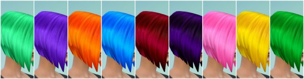 Welcome To The Jungle: Short Bob Hairstyle Retextured for Sims 4