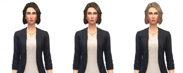 Busted Pixels: Medium wavy swept soft hairstyle 12 colors for Sims 4