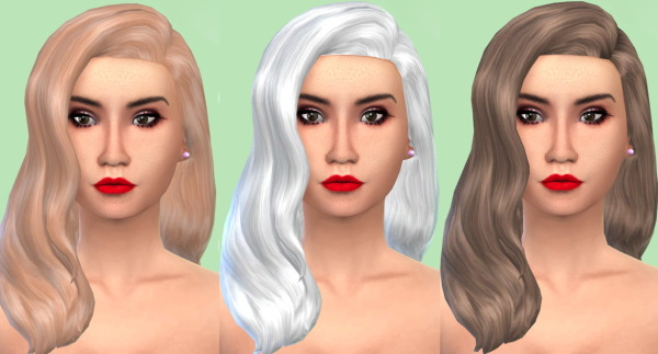 My Happy Ending: The Classic Wavy hairstyle retextured by White Crow for Sims 4