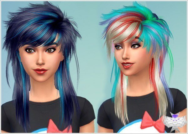 David Sims: Newseas Holic hairstyle converted for Sims 4