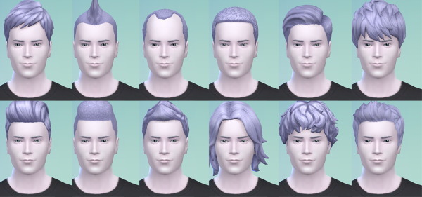 Stars Sugary Pixels: Angel Blue Hairstyle for Sims 4