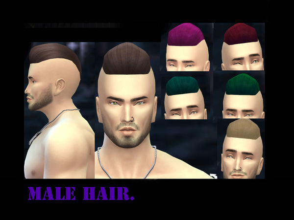 The Sims Resource: Hairstyle by GGerogge for Sims 4