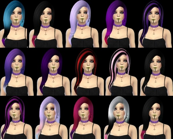 Isolated: Star Hairstyle retextured for Sims 4