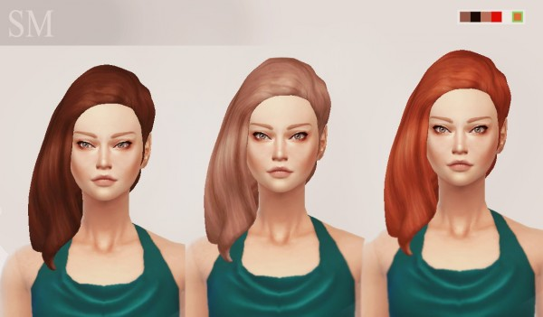 Simmaniacos: Pénelope Hairstyle   new mesh for Sims 4