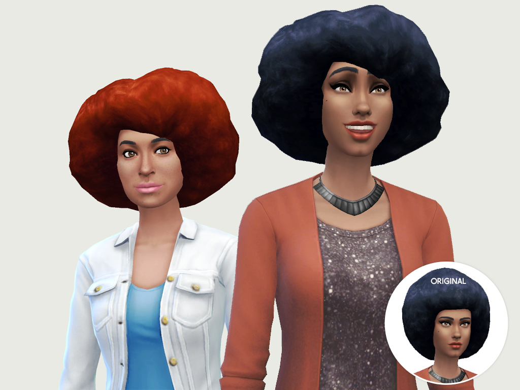 Sims 4 Hairs Lumia Lover Sims The Kwanza Fro Hairstyle
