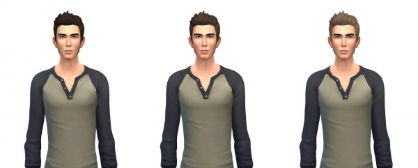 Busted Pixels: Dreamy flip hairstyle 12 colors for Sims 4