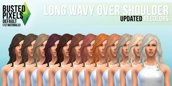 Busted Pixels: Long way over sholder hairstyle for Sims 4