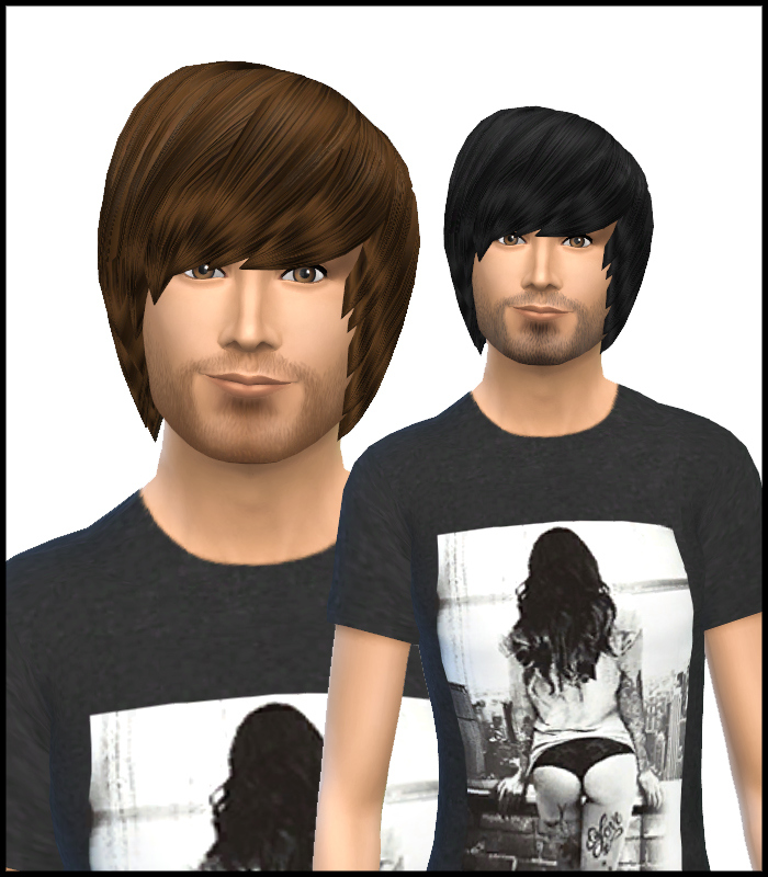 Sims 4 Hairs Simista David Sims Emo Hairstyle For Male