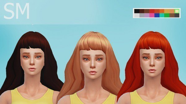 Simmaniacos: Bee Hairstyle for Sims 4