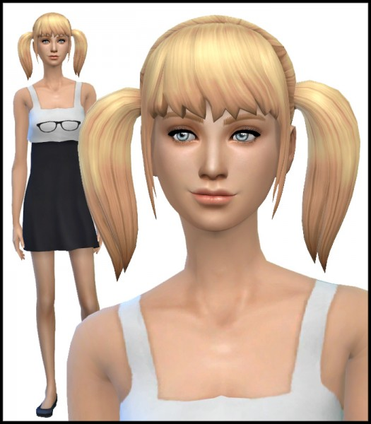 Simista: New pigtail hair mesh for Sims 4