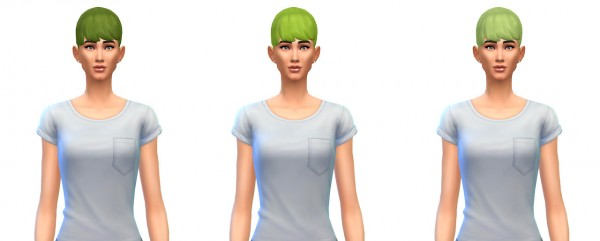 Busted Pixels: Ponytail bangs unnatural colors for Sims 4