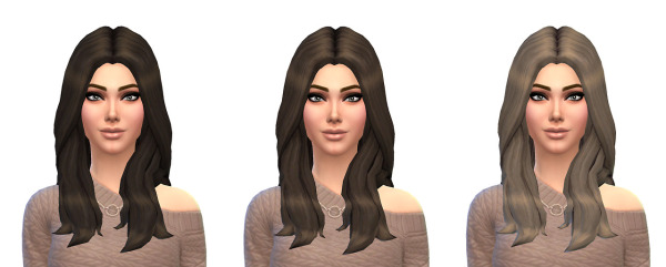Busted Pixels: Default Natural 12 Colors hairstyle for Sims 4