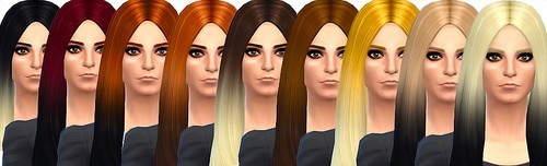 Dropkicksimscc: David Classic Long hairstyle retextured for Sims 4
