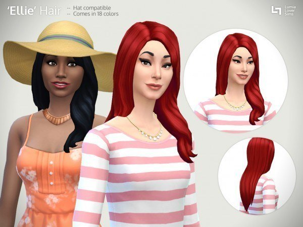 Lumia Lover Sims: Ellie hairstyle for Sims 4