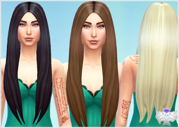 David Sims: Classic Long Hairstyle new mesh for Sims 4