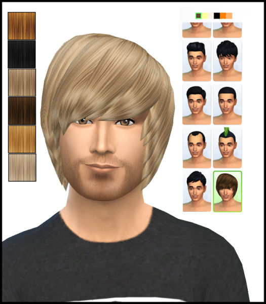 Simista: David Sims Emo Hairstyle for male retextured for Sims 4