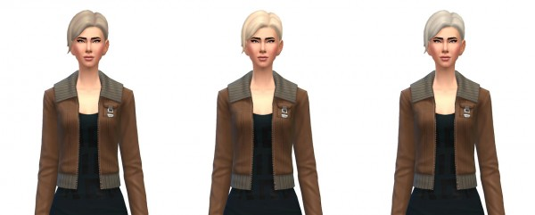 Busted Pixels: Updo bun recolors for Sims 4