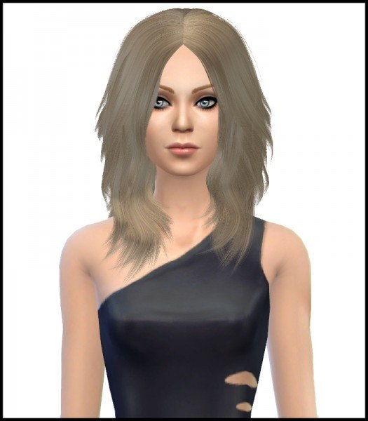 Simista: Astraea Nevermore Cazy`s 24 hairstyle retextured for Sims 4