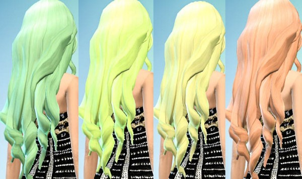Ohmyglobsims: Pastel Hair Recolors   David Sims long wavy hairstyle retextured for Sims 4