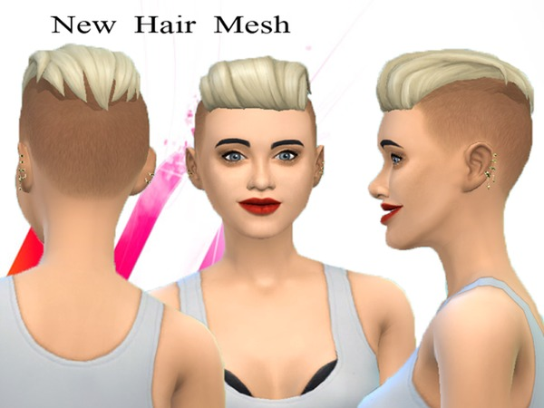 The Sims Resource: Punk hairstyle new mesh by Neissy for Sims 4