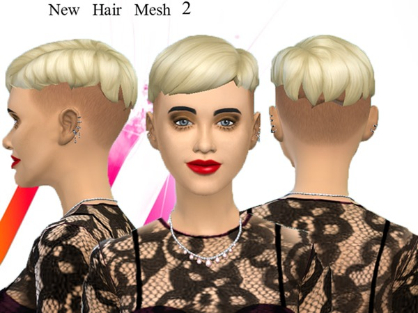 The Sims Resource: Punk hairstyle 2 new mesh by neissy for Sims 4