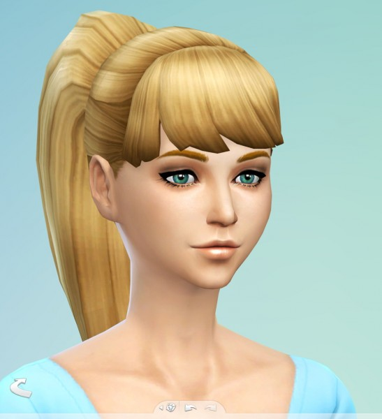 SimsSticle: Larger Ponytail hairstyle new mesh for Sims 4