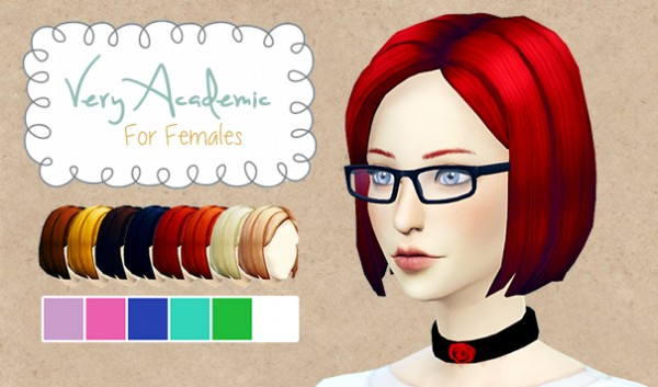 Everything that is not sims: Very Academic hairstyle recolor for Sims 4