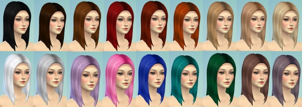 Sevenhills Sims: Long straight hairstyle retextured for Sims 4