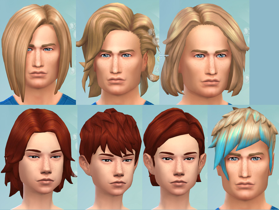Sims 4 Hairs Mod The Sims Gender Hairstyle Conversion