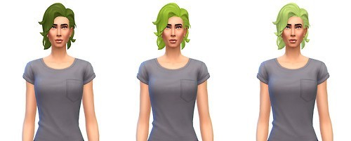 Busted Pixels: Bombshell hairstyle unnatural colors for Sims 4