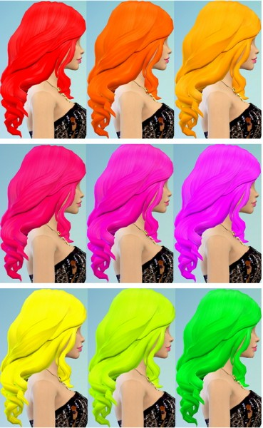 Ohmyglobsims: Electric hairstyle recolor for Sims 4