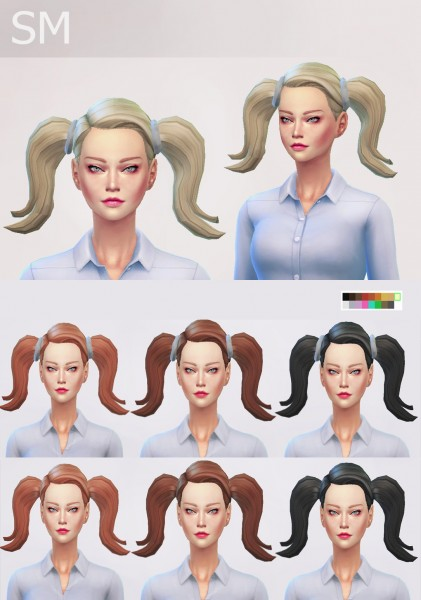 Simmaniacos: Bella Hairstyle   new mesh for Sims 4