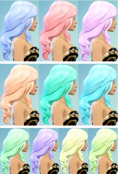 Ohmyglobsims:Pastel Hair Recolors for Sims 4