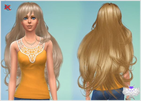David Sims: Peggy`s 03927 hairstyle converted for Sims 4